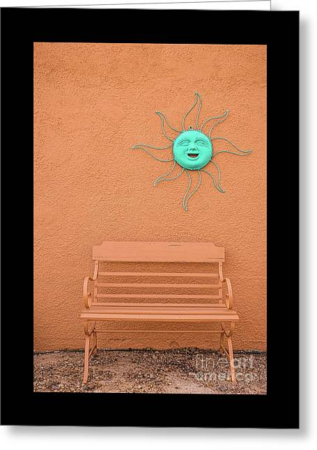 Southwestern Bench  Greeting Card