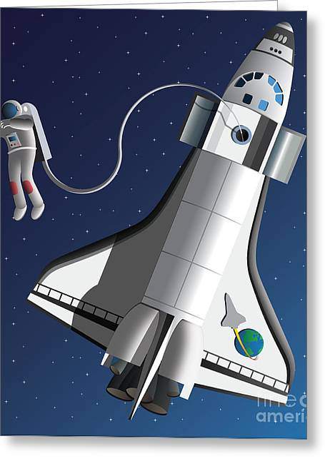 Space Walk Greeting Card