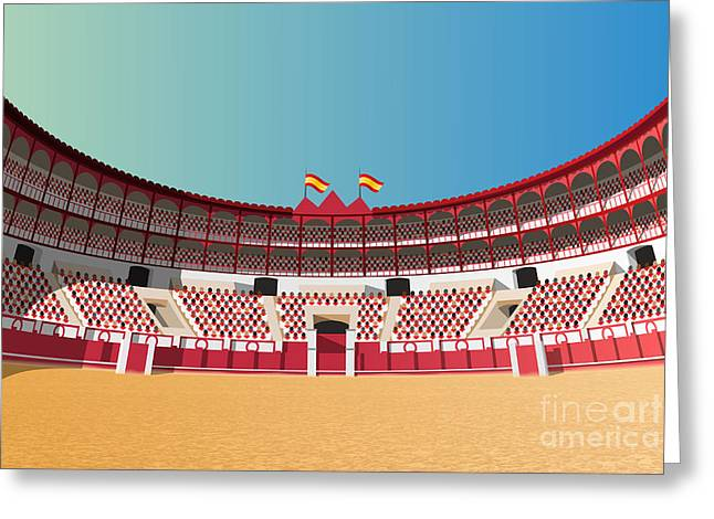Spanish Bullfight Arena Greeting Card