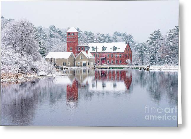 Sparhawk Mill In The Snow Greeting Card