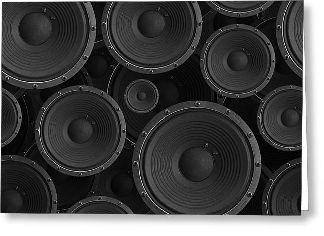 Speakers Seamless Background - Texture Greeting Card