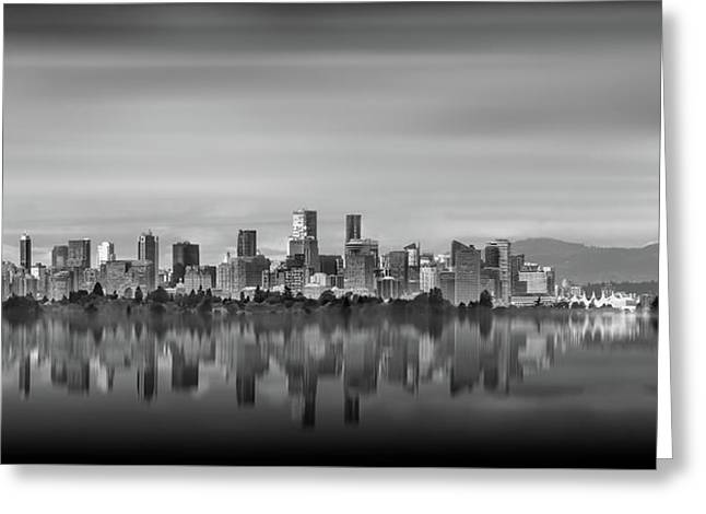 Special View Of Downtown Vancouver Greeting Card