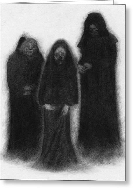 Specters Of The Darkness Beneath - Artwork Greeting Card