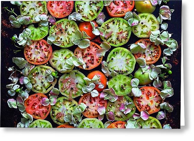 Spiced Tomatoes Greeting Card