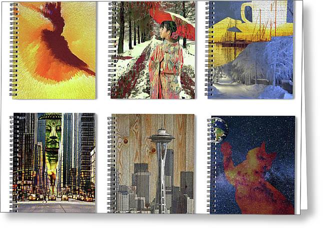 Spiral Notebooks Samples Greeting Card