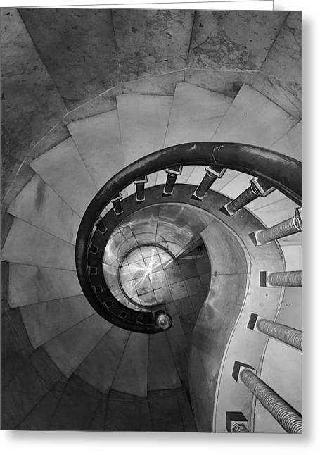 Spiral Staircase, Lakewood  Cemetary Chapel Greeting Card