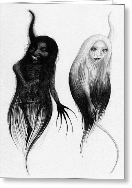 Spirits Of The Twin Sisters - Artwork Greeting Card