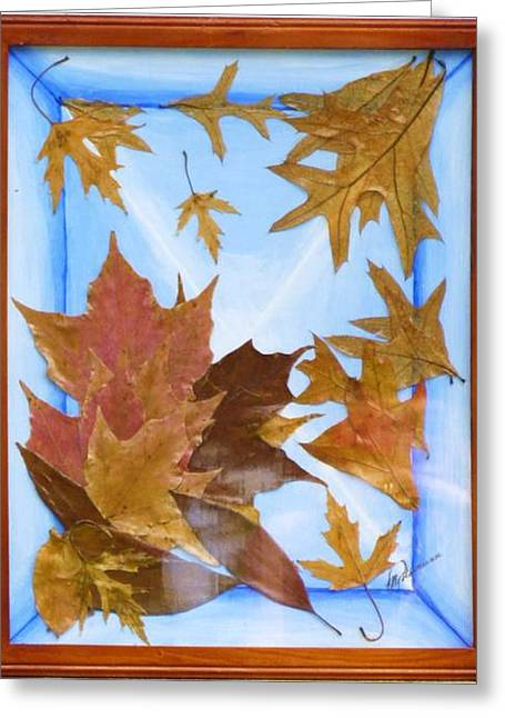 Splattered Leaves Greeting Card