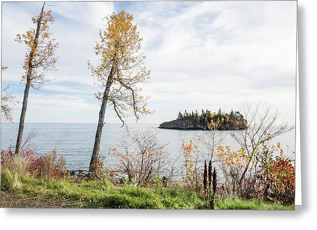 Greeting Card featuring the photograph Split Rock In The Fall by Whitney Leigh Carlson