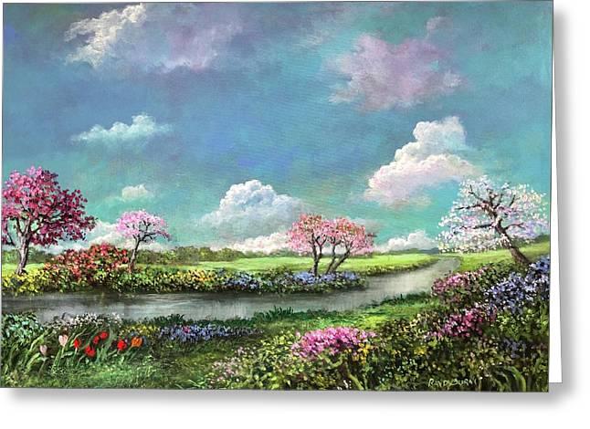 Spring In The Garden Of Eden Greeting Card