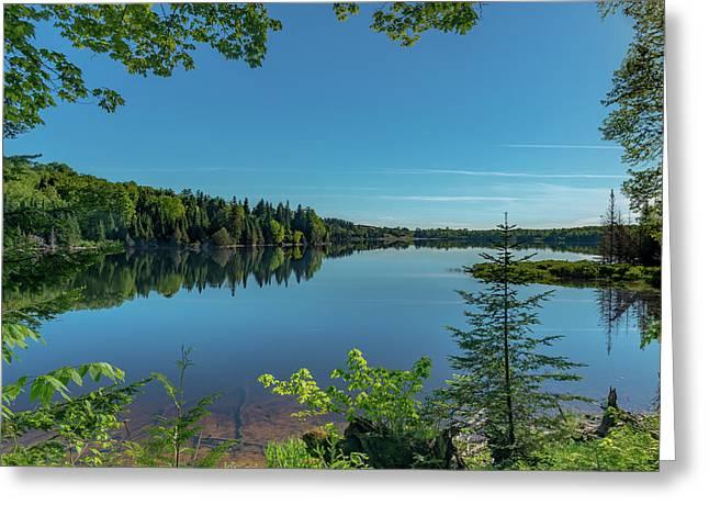 Spring Morning On Grand Sable Lake Greeting Card