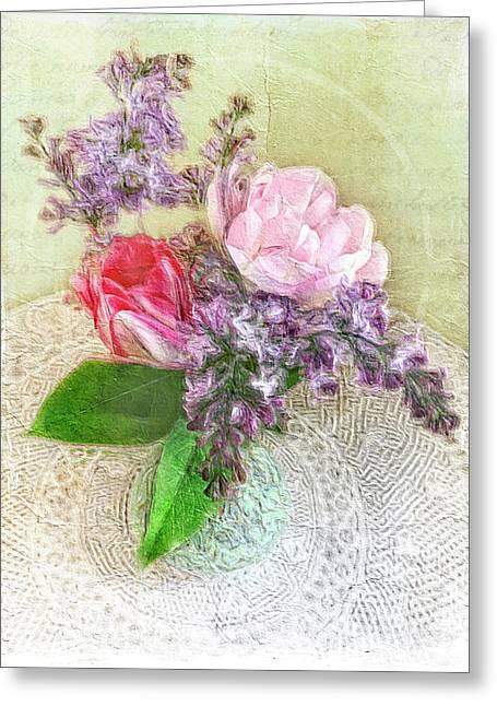 Spring Song Floral Still Life Greeting Card