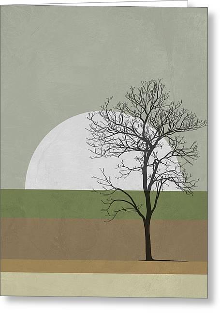 Spring Sunset Tree Greeting Card