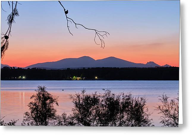 Spring Sunset. Yesterday At The Lake Greeting Card