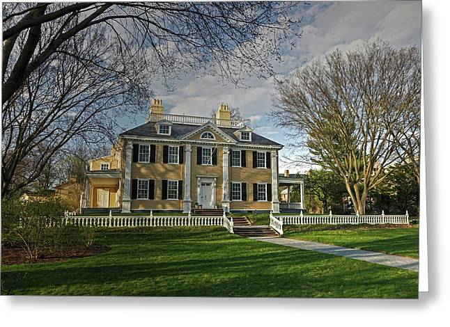 Springtime At Longfellow House Greeting Card