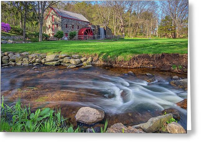 Springtime At The Grist Mill Greeting Card