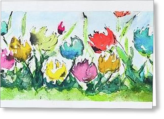 Springtime Tulips Greeting Card