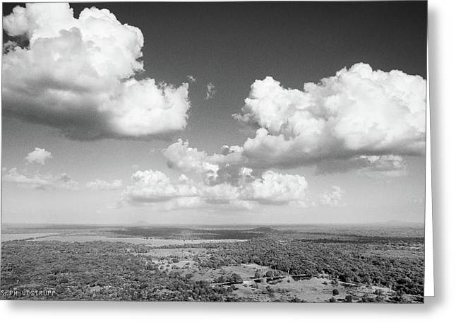 Sri Lankan Clouds In Black Greeting Card
