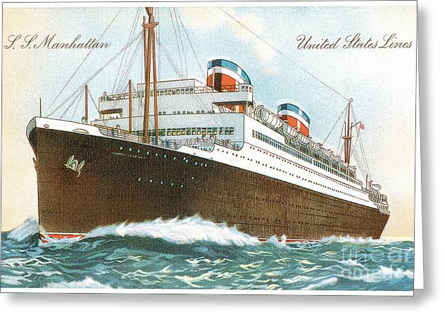 Ss Manhattan 1931  Greeting Card