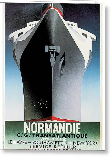Ss Normandie Greeting Card