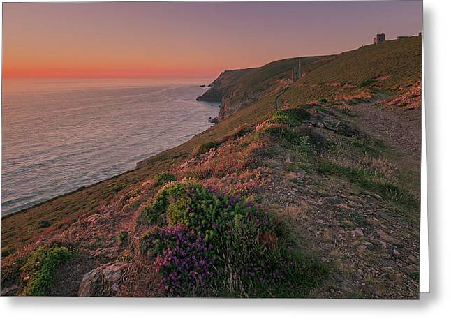 St Agnes Sunset Greeting Card