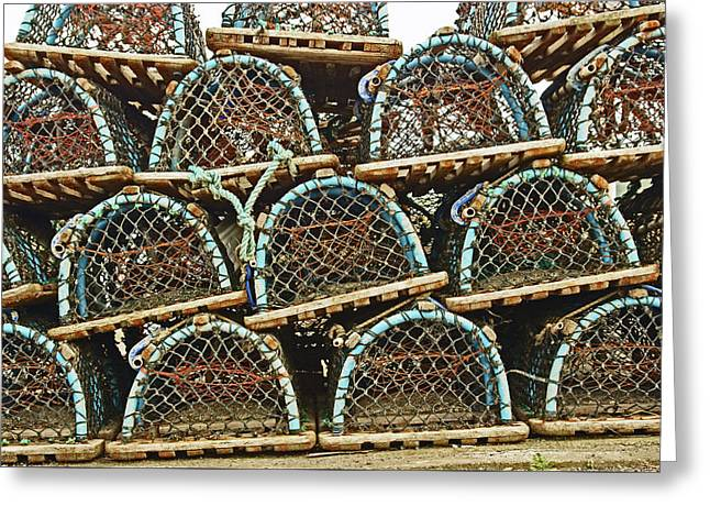 St. Andrews. Lobster Pots. Greeting Card