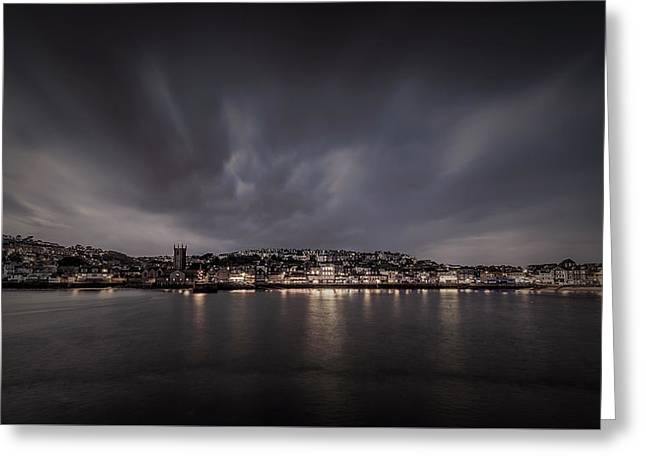 St Ives Cornwall - Dramatic Sky Greeting Card