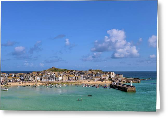 St Ives Cornwall - General View Greeting Card