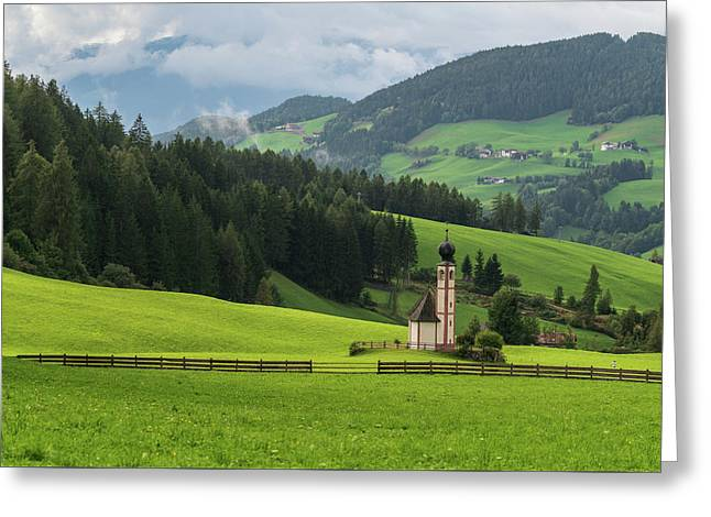 St Johann From The East Greeting Card