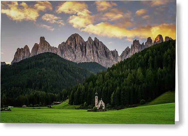 Greeting Card featuring the photograph St Johann Sunrise by James Billings