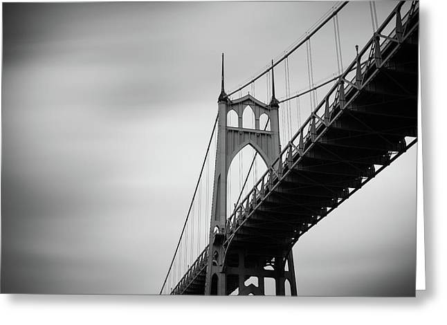 Greeting Card featuring the photograph St. Johns Bridge by Nicole Young