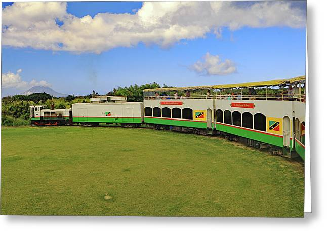 Greeting Card featuring the photograph St Kitts Railway by Tony Murtagh