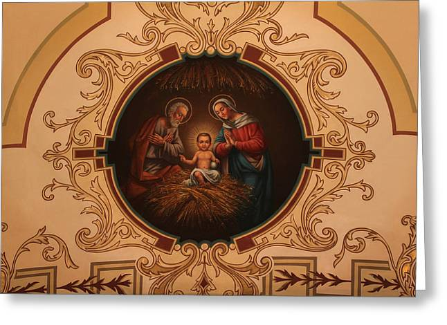 St. Louis Cathedral Nativity Scene Greeting Card