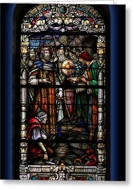 St. Louis Cathedral Stained Glass Window Greeting Card