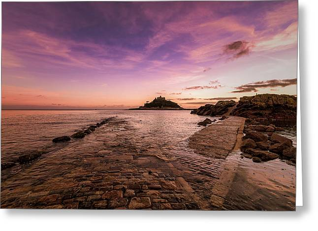 St Michael's Mount - January Greeting Card