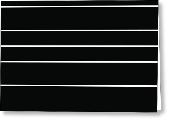 Stacked - Black And White Greeting Card