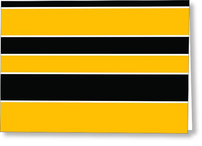 Stacked - Black And Yellow Greeting Card