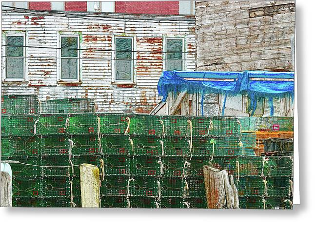 Stacked Lobster Traps Greeting Card