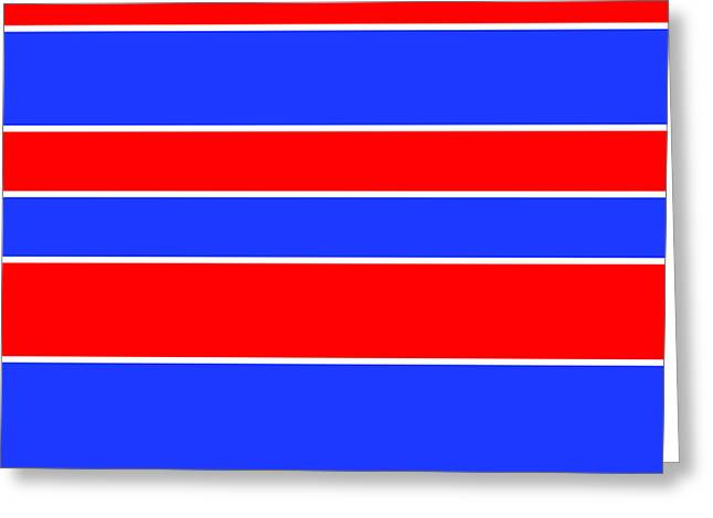 Stacked - Red, White And Blue Greeting Card