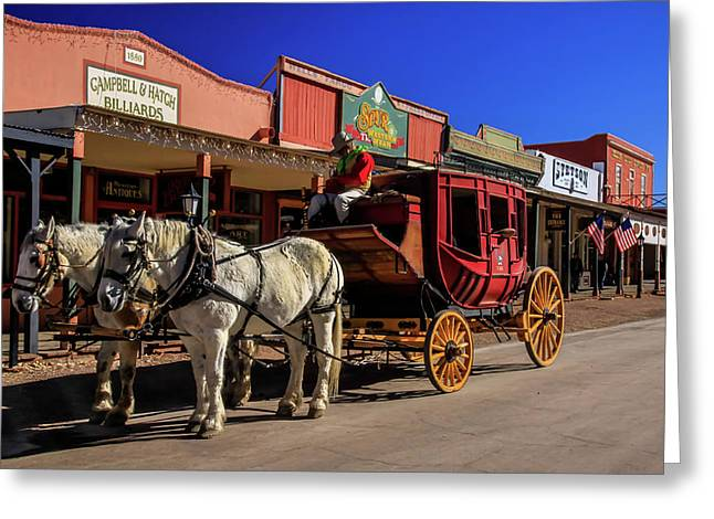 Stagecoach, Tombstone Greeting Card