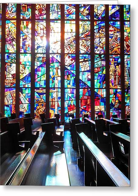 Stained Glass Historical Our Lady Of Czestechowa Shrine Greeting Card