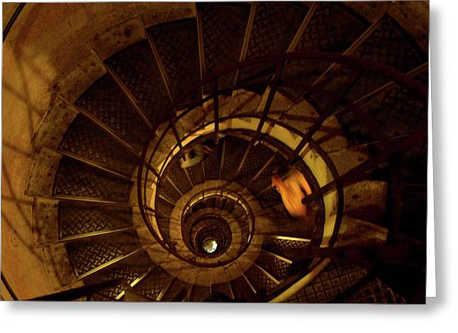 Greeting Card featuring the photograph Stairs by Edward Lee