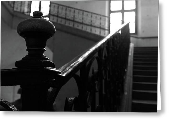 Greeting Card featuring the photograph Stairs, Handrail by Edward Lee