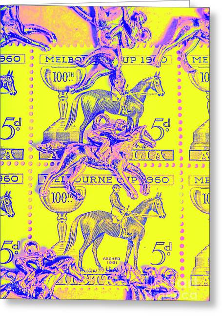 Stamps And Stallions Greeting Card