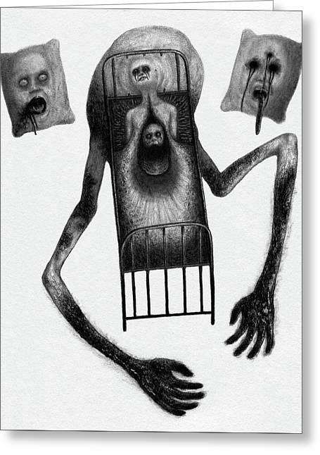 Stanley The Sleepless - Artwork Greeting Card