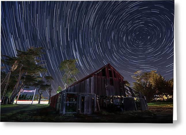 Star Trails Over Bonetti Ranch Greeting Card