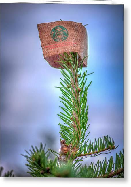 Starbucks Tree Topper Greeting Card