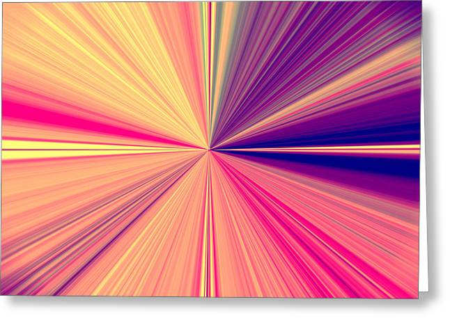 Starburst Light Beams In Abstract Design - Plb457 Greeting Card