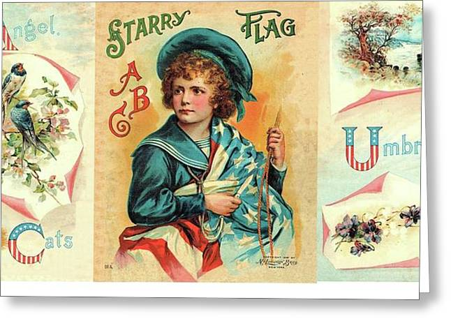 Starry Flagg Wrap A Round Greeting Card