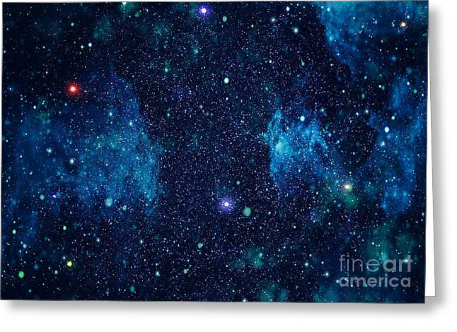 Starry Outer Space Background Texture Greeting Card